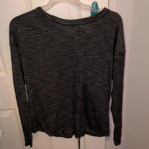 Lululemon long sleeve lace-up shirt
